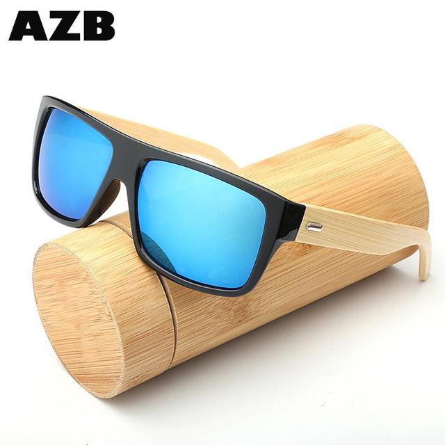 AZB Professional wholesale wood frame cheap wooden bamboo sunglasses custom with CE certificate