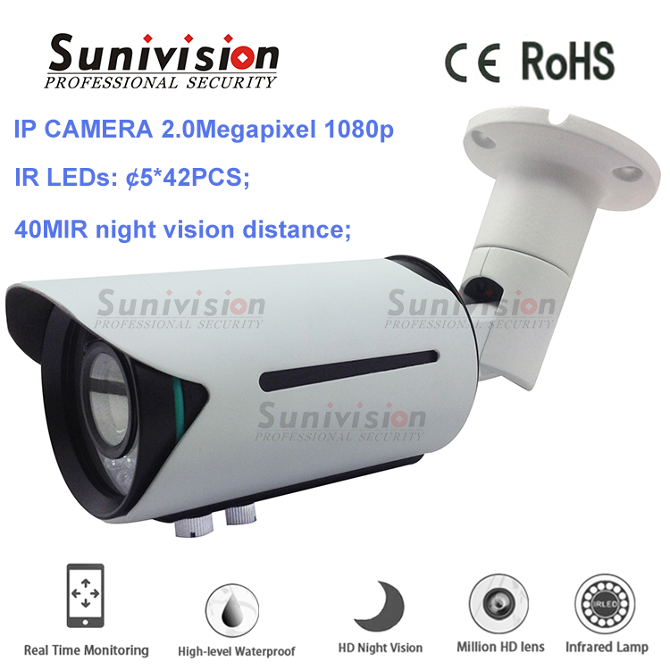 new arrival 40m night vision distance 42pcs IR led poe wireless ip camera
