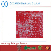 ENIG pcb control board with FR4 94v0 material for lcd TV camerals QX-CC06 Red solder mask