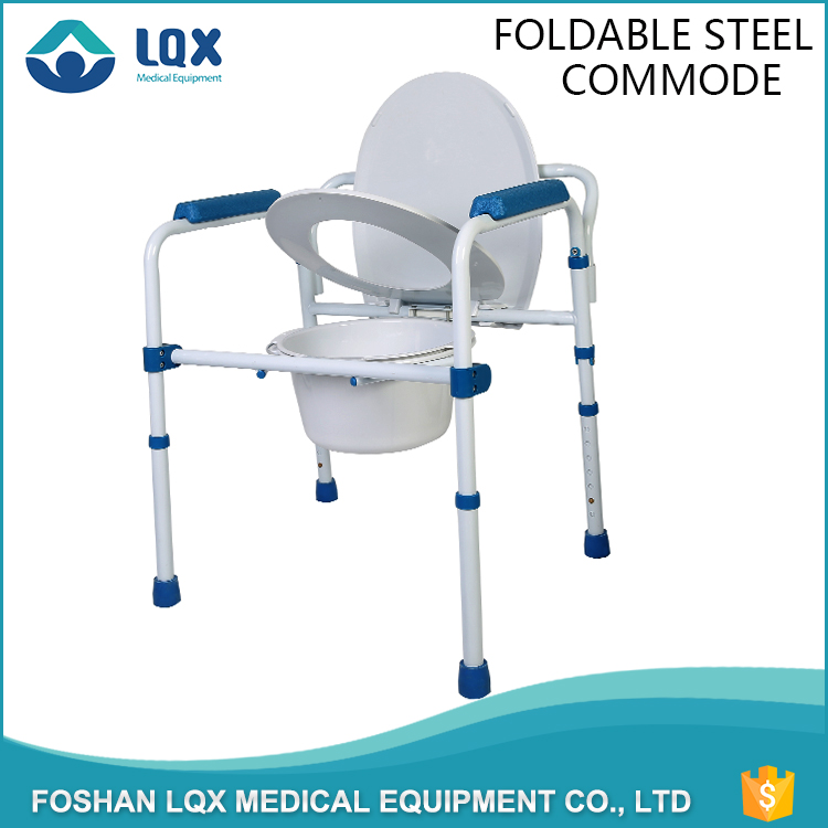 Health care supplies mobile commode plastic chair portable toilet
