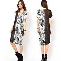 wholesale fashion printed short sleeves clothing african arabic dresses for women