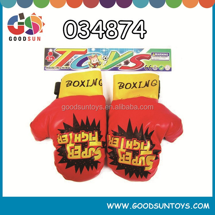 Mini children gloves with cartoon design for sport boxing set