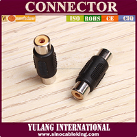 2 rca jacks to 2 rca jacks double rca female connector
