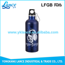 Large capacity small mouth 500ml steel sports drink bottles with lifting rope