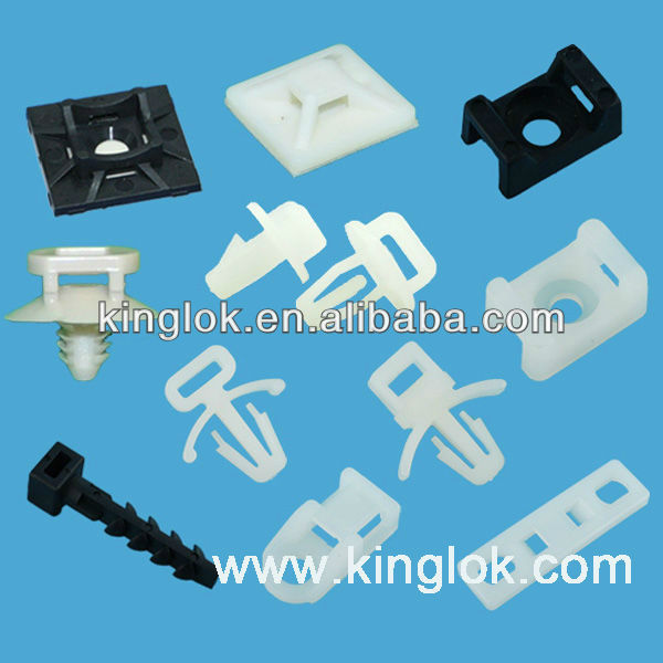 Saddle type tie mounts cable tie holder round electrical nail cable clip