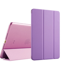 10''Folding Smart multuple color Cover Leather tablet pc case for Ipad air2/Ipad 6