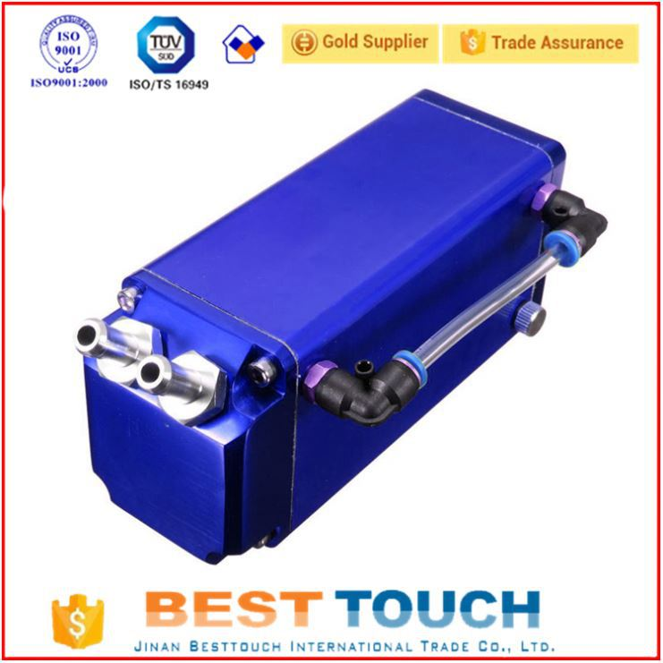 High performance blue square aluminum cooling catch can breather super cooling catch can breather for iveco parts italy