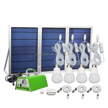 30W 11V multifunctional Foldable small solar panel Green lighting kit /solar lighting system/for home /indoor / camping