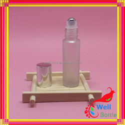 high quality 10ml roll on glass bottle 10ml perfume bottle roll on with screw alumite cap