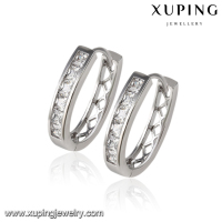 90360 Xuping fake diamond hoop earrings,pictures of gold earrings