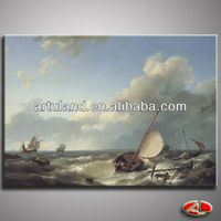 High quality sail ship paintings/oil painting sail boats