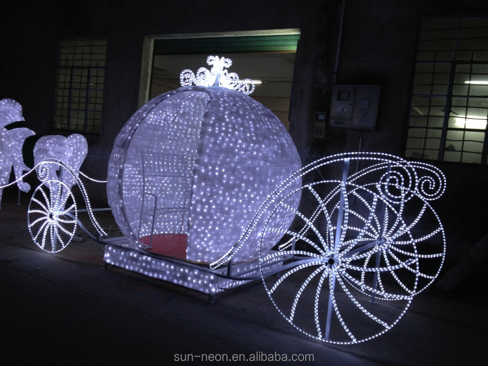 outdoor christmas decoration horse carriage buy - Christmas Lighted Horse Carriage Outdoor Decoration
