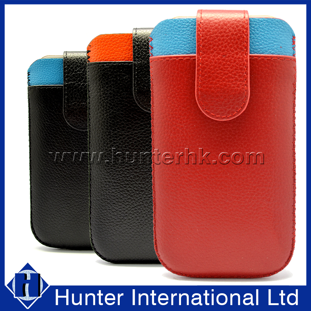 Hot Sale Universal Genuine Leather Slide In Case