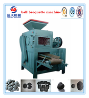 30 years experience high pressure 2 rollers mechanical coal ball press machine/briquette machine/bamboo charcoal making machine