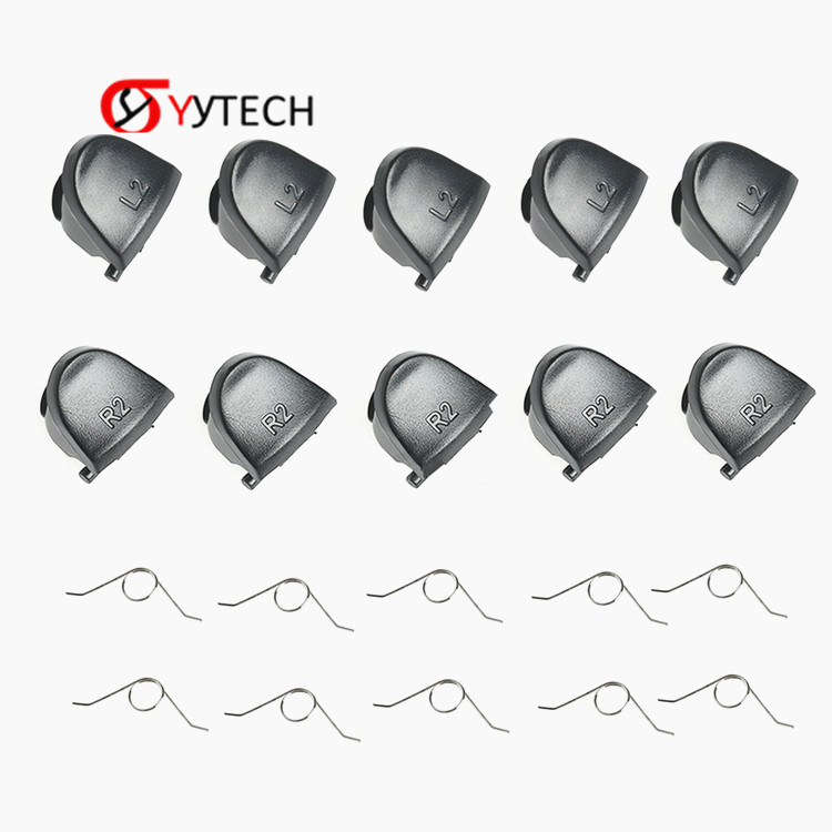 SYYTECH 5 Pairs L2 R2 Trigger Springs Replacement Parts Buttons For PS4 Controller
