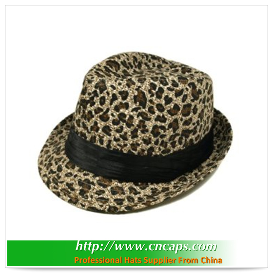 fedora hat for girl with logo for promotions