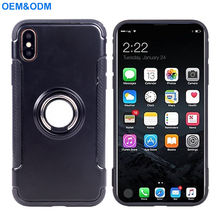 2018 Wholesale OEM 360 Degree Rotation PC TPU Case For iPhone 8 With Finger Ring Fit For Car Phone Holder