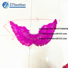 Manufacturer large Handmade black feather costume wings for lady