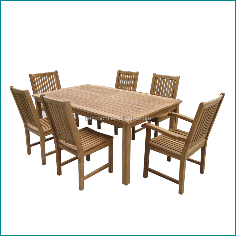 outdoor garden teak wood square dining table and hairs set buy outdoor garden dining set. Black Bedroom Furniture Sets. Home Design Ideas