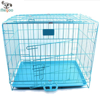 Foldable Pet Cage Overstriking Strong Iron Dog Cage With Handle