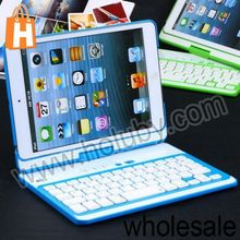 Solid Color Detachable Flip Hard PC Case and Wireless Bluetooth Keyboard for iPad Mini Five Colors