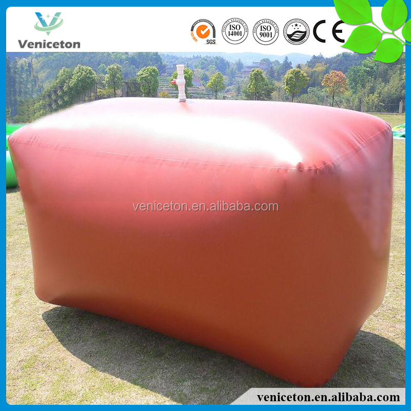 Veniceton Foldable soft bladder for methane gas/biogas storage with large capacity up to10000L