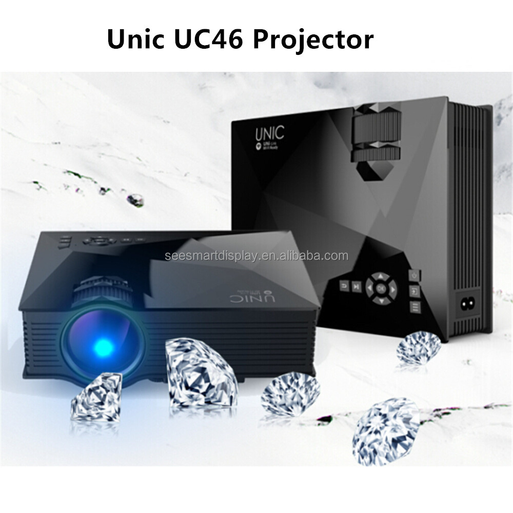 New Arrival Pocket Projector Unic UC46 Mini LED Projector 1200 Lumens Wireless Connection Beamer