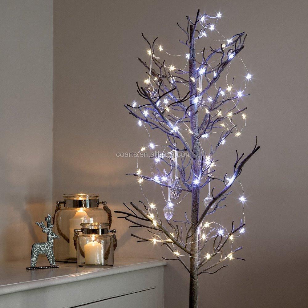 40 Micro Warm White Battery Operated LED Star Christmas Light