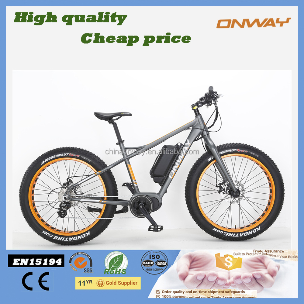 26 inch Bafang Max System 36V 250W Middle Moter Fat Tire best electric bicycle