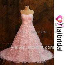 RSW350 Wedding Dress Organza Ruffles Skirt