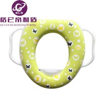 GLD China Manufacturing Baby Soft Padded Potty Training Toilet Seat With Handles for Children wc bathroom