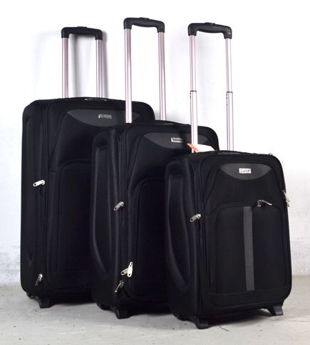 High quanlity leather trolley travel luggage bag