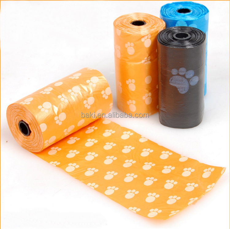 Hot Selling Biodegradable Pick Up Waste Pet Dog Poop Bag With Printing