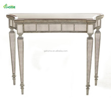 Clement Gold Mirrored Living Room Furniture Console Tables