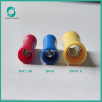 American,Japan,Germany Standard 1.5-6mm2 BV series insulated lugs cable lugs wire lugs
