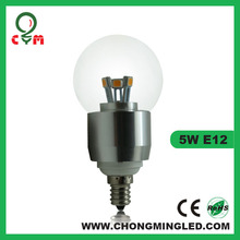 classic candle flame shape led bulb 3w 5w 6w