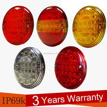 SAE / DOT certification 140mm led volvo truck tail lamp with 3 years warranty