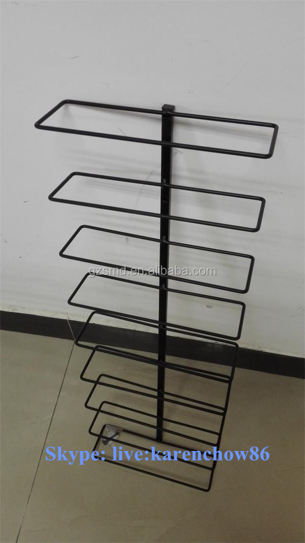 Wholesale 9 Bottles Black Metal Wire Wall Mounted Wine Rack