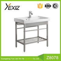 Z8078 ceramic small size wash hand basin cabinet