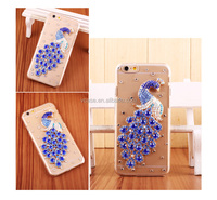 Bling diamond mobile case for iphone 6 , full cover rhinestone mobile phone case for iphone 6 plus