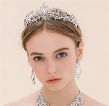 European and American high-end luxury full bride's Married crown head hot style hair crown