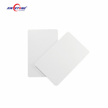 CR80 PVC plastic blank card for customers self printing