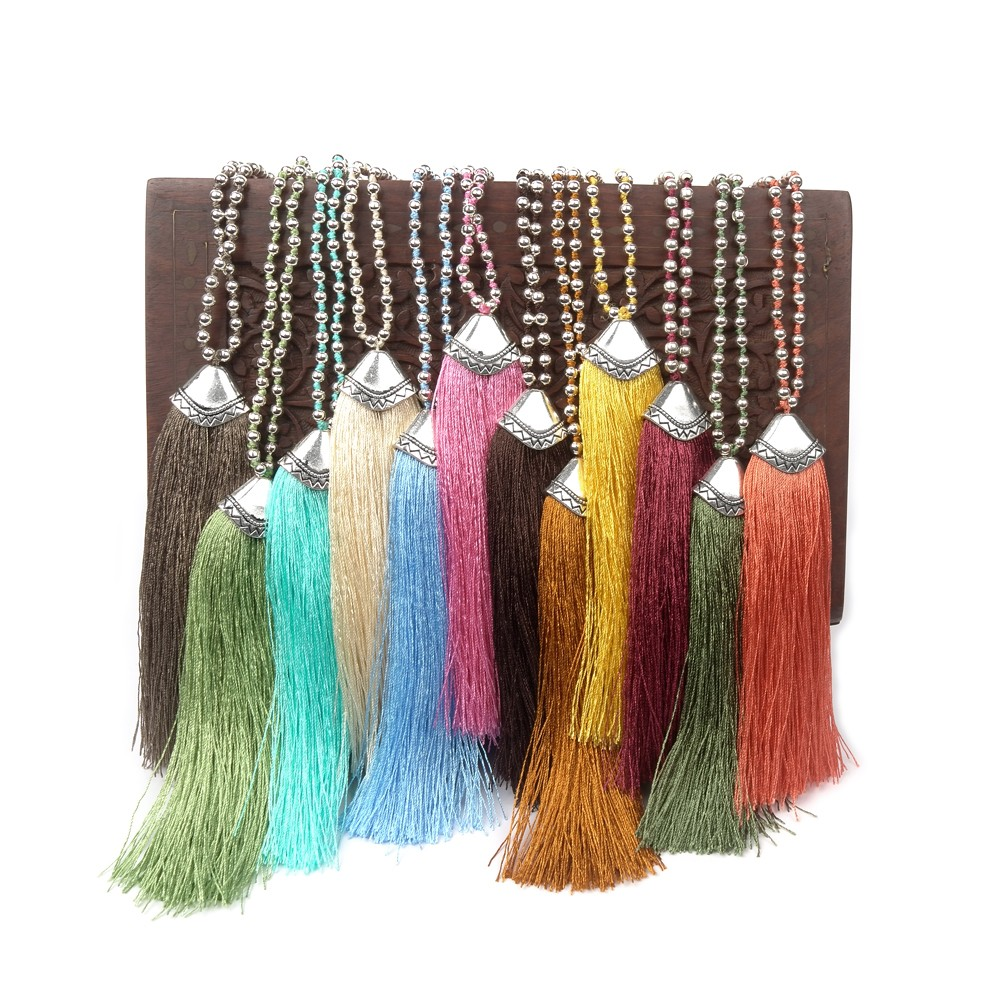 Fashion Women Handmade Braided Seed Bead Necklace