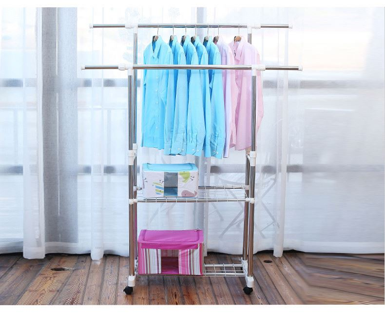 Factory sale top quality plastic roller stainless steel clothes drying rack