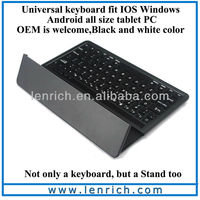 LBK125 High quality aluminum bluetooth android tablet keyboard design new style