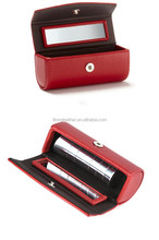 New design lipstick pouch,portable lipstick case,leather lipstick box