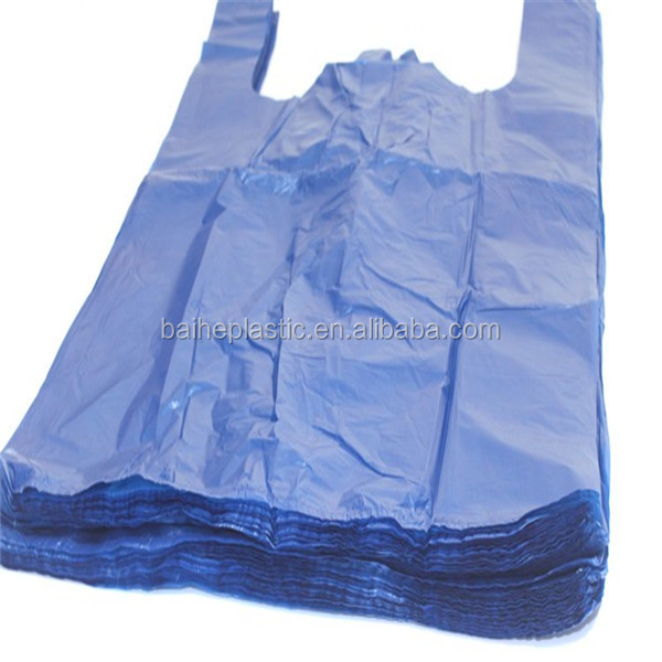 PE recycled T-shirt Plastic garbage waste rubbish bag