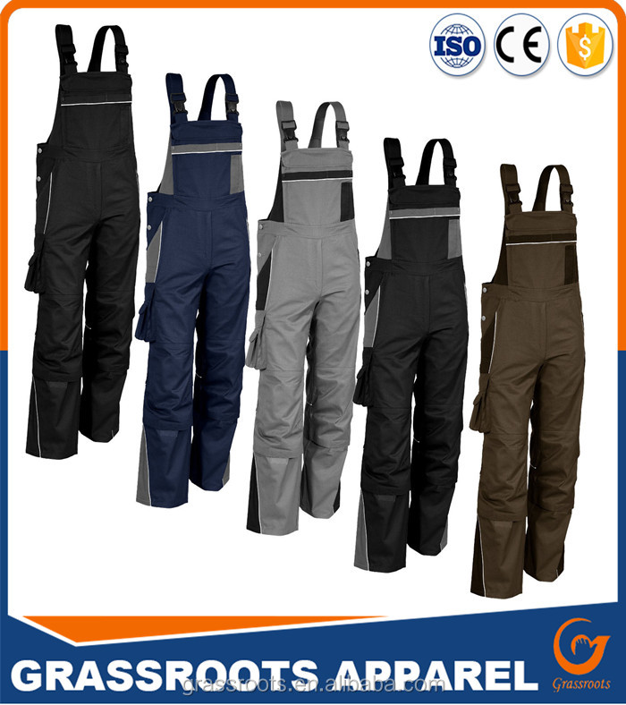 2017 lates design Nice Farm & Pasture Workwear Bib Pants Top Quality Custom-made Cheap Hard Wearing Working Clothes Pants