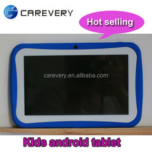 Global hot sales long battery life 7 inch 1024x600 kids game tablets quad core 1.5ghz