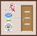 pvc wooden door with glass